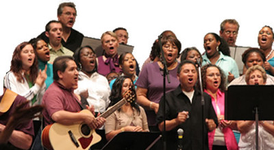 Multicultural church choir