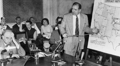 Senator Joe McCarthy (far right)
